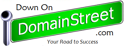 Domain Street banner for DomainSt.co and DownOnDomainStreet.com