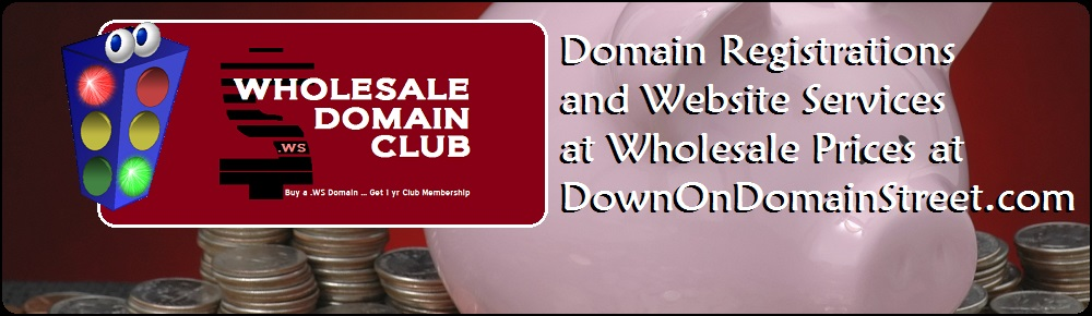 Save Money with the Wholesale Domain Club at DownOnomainStreet.com